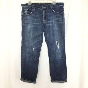 Lucky brand boyfriend crop jeans size 14/32